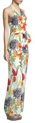 Alice + Olivia Cyprus Floral Wrap Jumpsuit