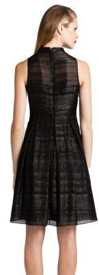 Cynthia Steffe Sparkle Stripe Chiffon Dress
