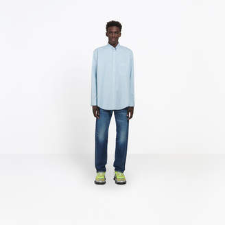 Balenciaga Cotton poplin shirt with logo