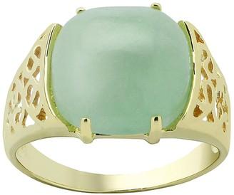 Jade 10k Gold Filigree Ring