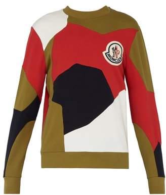 Moncler 2 1952 - Colour Block Cotton Sweatshirt - Mens - Brown Multi