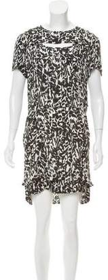 Isabel Marant Silk Abstract Mini Dress