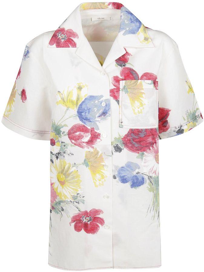 CelineCeline Floral Print Shirt