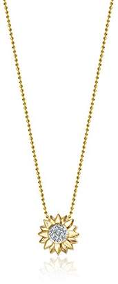 "Alex Woo Little Seasons"" Diamond and 14k Sunflower Pendant Necklace"