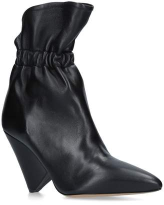 Isabel Marant Leather Lileas Boots 90