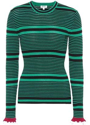 Kenzo Striped cotton-blend sweater