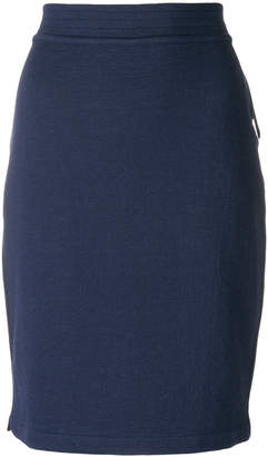 Humanoid fitted midi skirt
