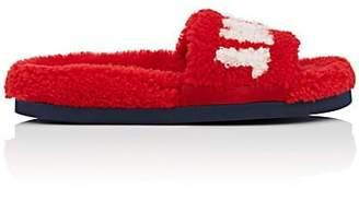Mr & Mrs Italy Women's Shearling Slide Sandals - Red