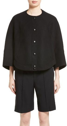 Chloé Women's Chloe Wool Blend Cape Jacket