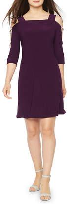 MSK 3/4 Sleeve Embellished Shift Dress