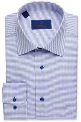 David Donahue Men's Regular-Fit Micro-Gingham Dress Shirt