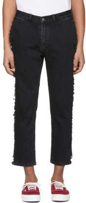 Wonders Black Shift Cropped Jeans