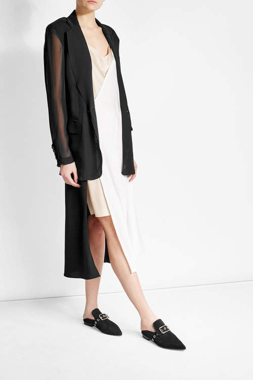 DKNYDKNY Blazer Blouse with Sheer Inserts