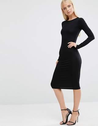 ASOS Long Sleeve Bodycon Midi Dress $23 thestylecure.com