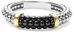 Women's Lagos 'Caviar' Stacking Ring $275 thestylecure.com