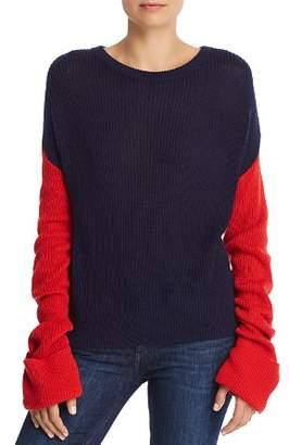 Splendid Color Block Drop Shoulder Sweater