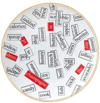 Bitossi Words Dinner Plate