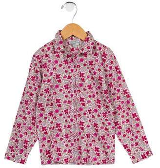 Papo d'Anjo Girls' Printed Button-Up Top