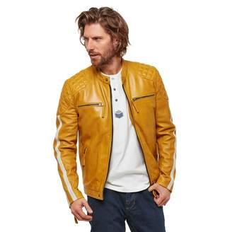 Joe Browns - Mustard 'Road Holder' Leather Jacket