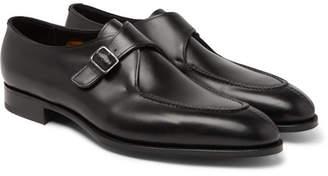 Edward Green Clapham Leather Monk-Strap Shoes - Black
