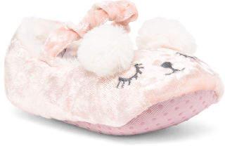 Toddler Girls Sleepy Bear Slippers