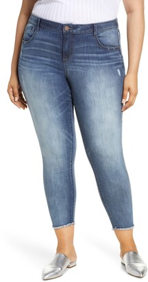 Wit & Wisdom Luxe Touch Fray Hem Ankle Skinny Jeans