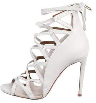 Aquazzura French Lover 105 Leather Sandals White French Lover 105 Leather Sandals