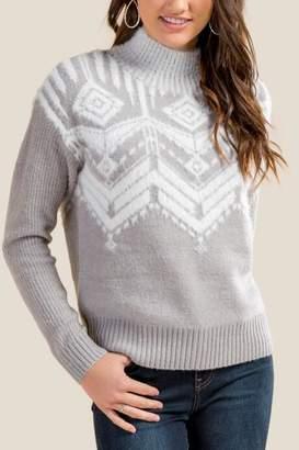 francesca's Brooklyn Fair Isle Sweater - Heather Gray