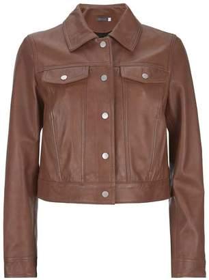 Mint Velvet Tan Leather Western Jacket