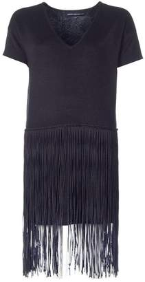 French Connection Spotlight Fringed Dress Colour: BLACK, Size: 8