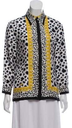 Gianni Versace Vintage Twill Printed Blouse
