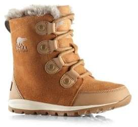 Sorel Kid's Whitney Suede& Faux Fur Boots