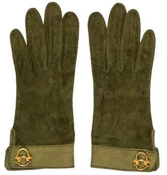 Hermes Vintage Suede Gloves