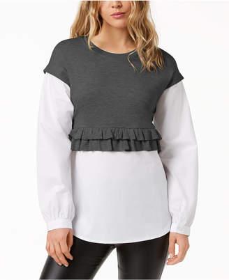 Kensie Layered-Look Sweater