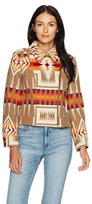 Pendleton Women's Wool Jacquard Moto Jacket