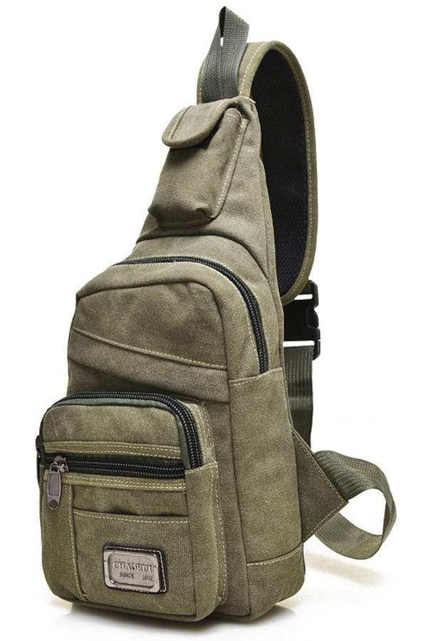 Chickle Men's Canvas Strap Sling Chest Bag