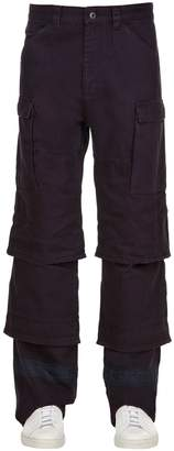 Y/Project Y Project Multi Cuff Cotton Gabardine Cargo Pants