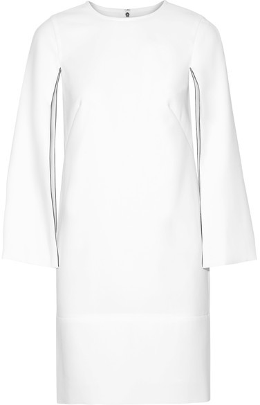 DKNY - Cape-effect Stretch-crepe Dress - White
