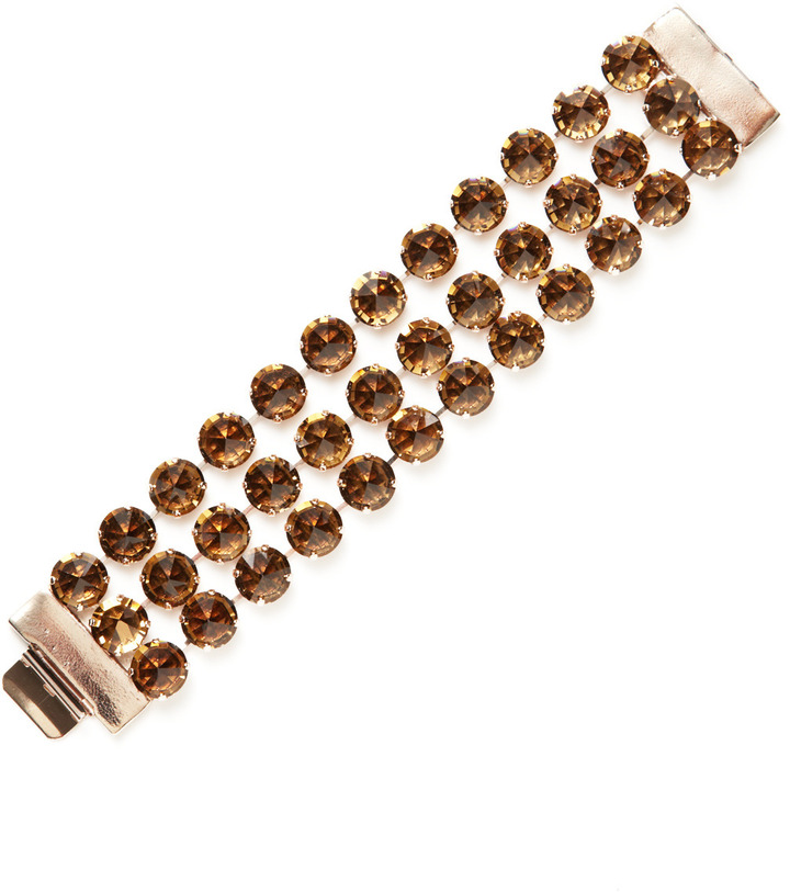 Made Her Think Rose Gold & Inverted Crystal Triple Strand Bracelet