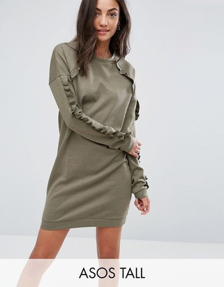 ASOS Tall ASOS TALL Sweat Dress with Frill Detail $49 thestylecure.com