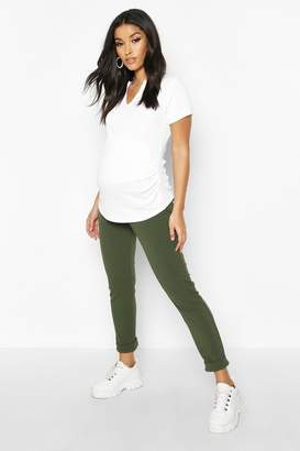 boohoo Maternity Under The Bump Tapered Trouser