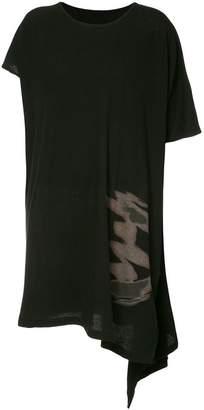 Yohji Yamamoto Abstract asymmetric T-shirt