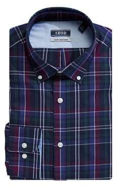 Izod Plaid Dress Shirt