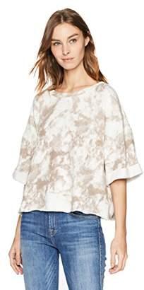 Splendid Women's Cropped Short Sleeve Sweatshirt