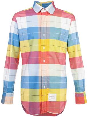 Thom Browne long sleeve check shirt