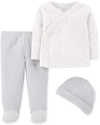 Carter's Baby Boys & Baby Girls 3-Pc. Hat, T-Shirt & Pants Set