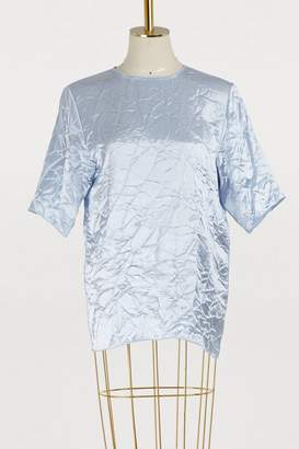 Nina Ricci Crinkled satin T-shirt