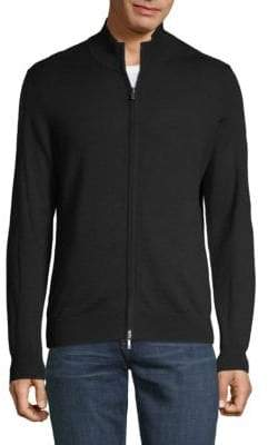 Saks Fifth Avenue Full-Zip Wool Sweater