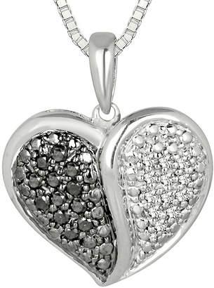 Black Diamond FINE JEWELRY 1/5 CT. T.W. White and Color-Enhanced Pendant Necklace