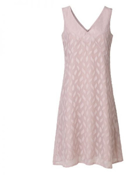 Rosemunde Stylish Self Print Vintage Powder A Line Dress - UK 10 - Pink